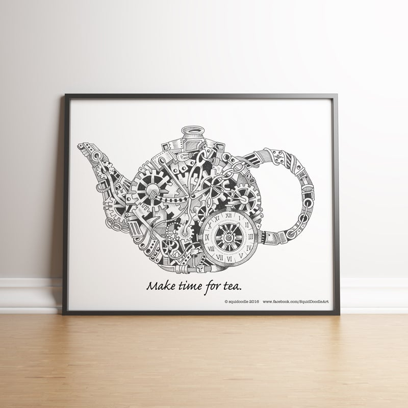 Image of Make time for tea limited edition handsigned print