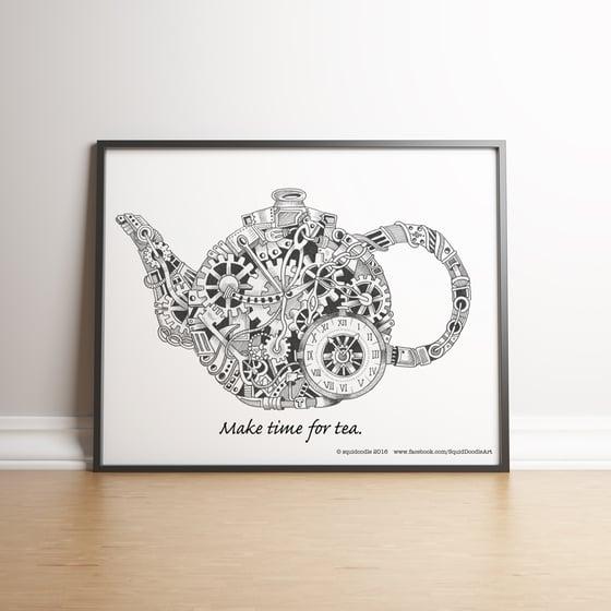 Image of Make time for tea limited edition handsigned print