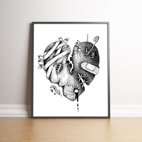 Image of Broken Heart limited edition hand signed print
