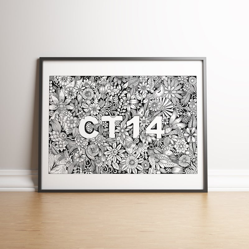 Image of CT14 limited edition hand signed print