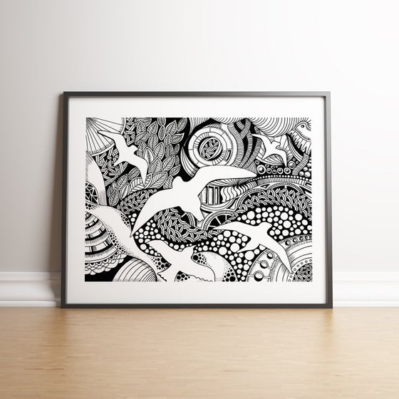 Image of A Bird's Eye View limited edition hand signed print