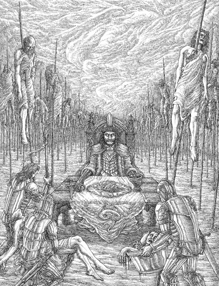 "Image of SOLD - ""VLAD TEPES"" original artwork"