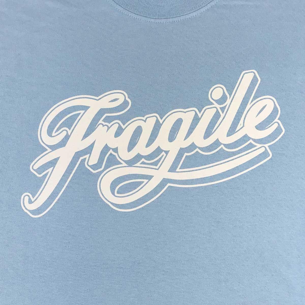 Image of Light Blue Fragile Script Tee