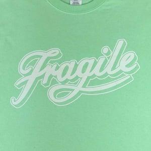 Image of Mint Green Fragile Script Tee