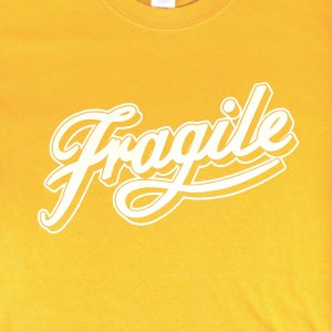 Image of Gold Fragile Script Tee [Sold Out]