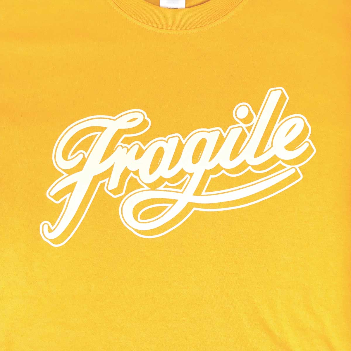 Image of Gold Fragile Script Tee