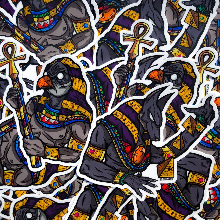 Image of Anubis & Horus Jumbo Sticker Set