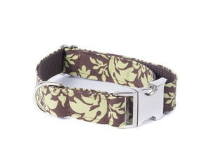 Image of Green Damask Collar in the category  on Uncommon Paws.