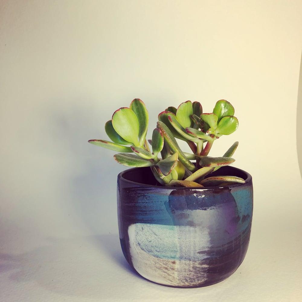 "Image of ""Little"" Turquoise Melange Planter"