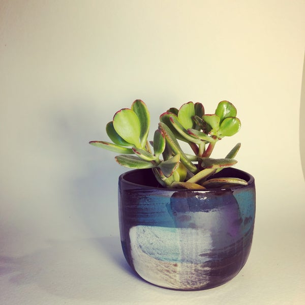 "Image of ""Little"" Turquoise Melange Planter"