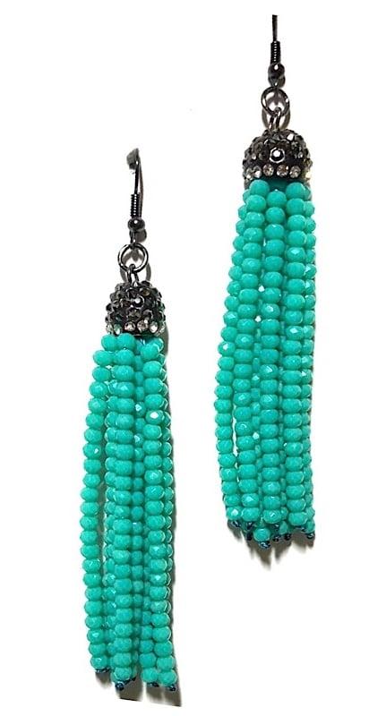 Image of Turquoise Tassel Earrings