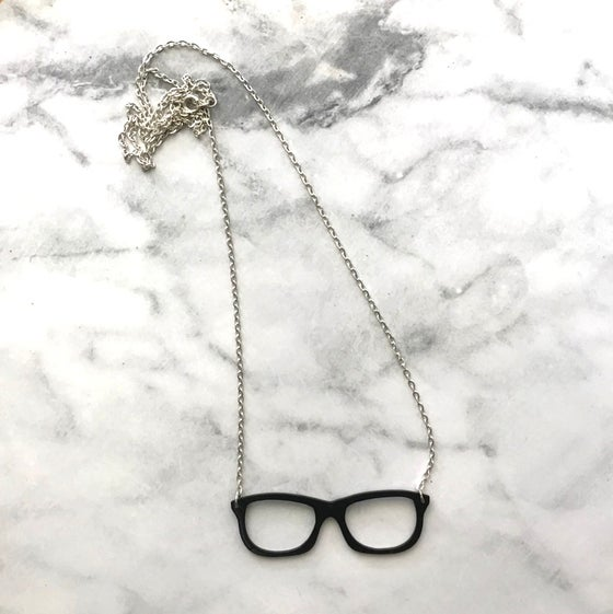 "Image of Hipster glasses ""made from vinyl records"" necklace"
