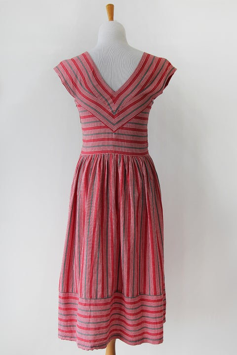 Image of SOLD Perfect Stripes Cotton Day Dress