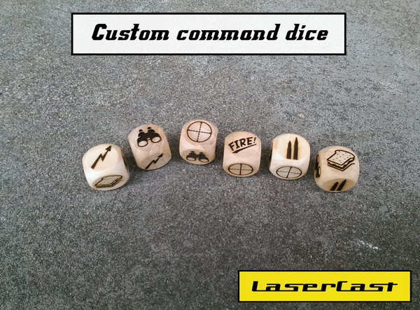 Image of What a tanker! custom command dice.