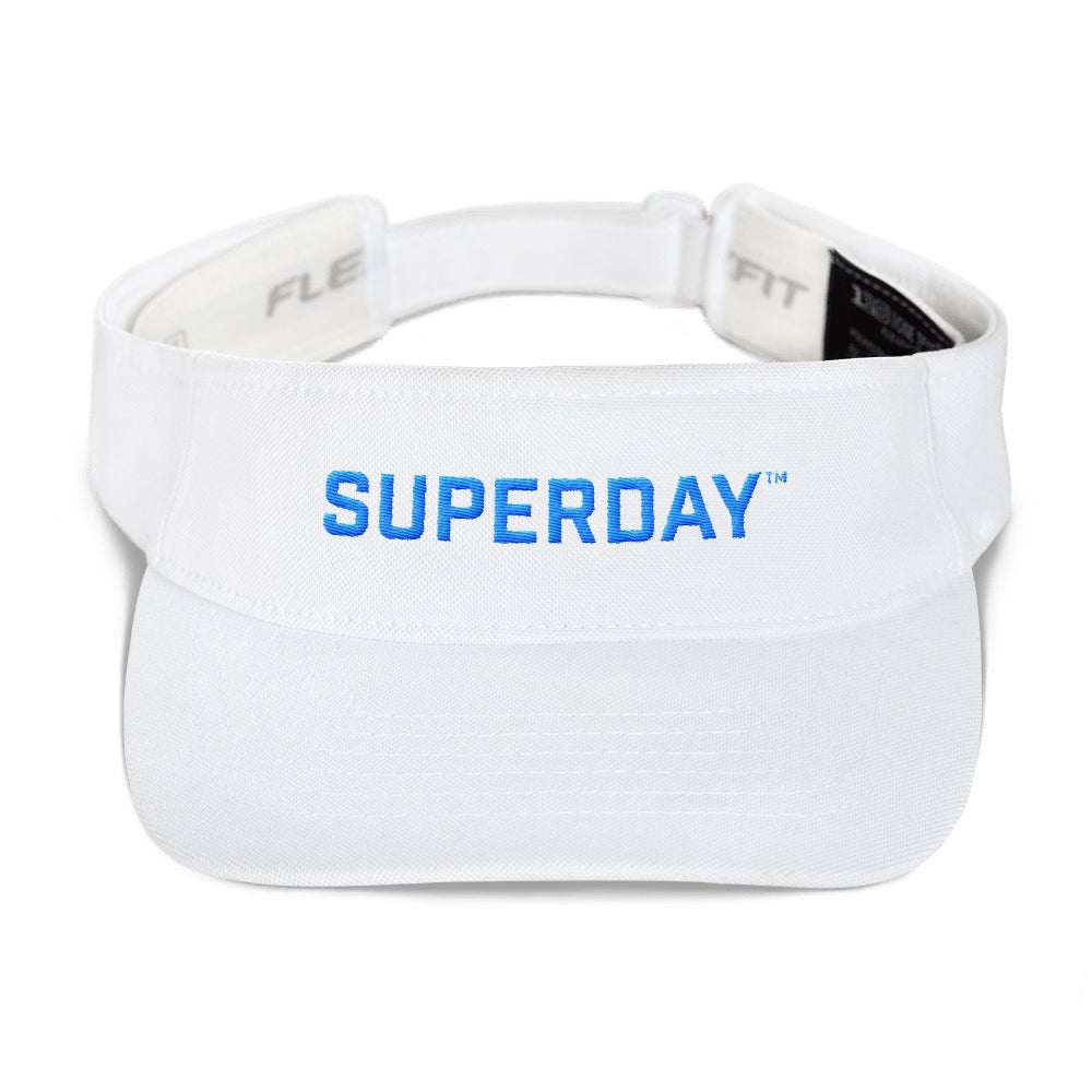 Image of superday logo visor (white)