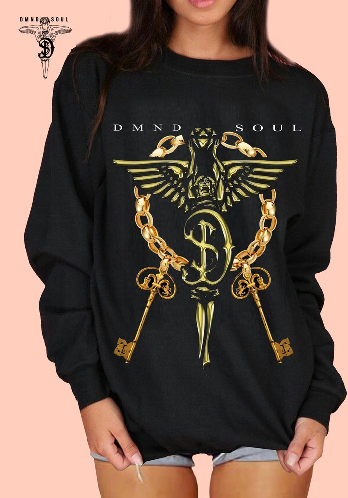 Image of Oversized Luxury Edition Charm Sweater (Gold)