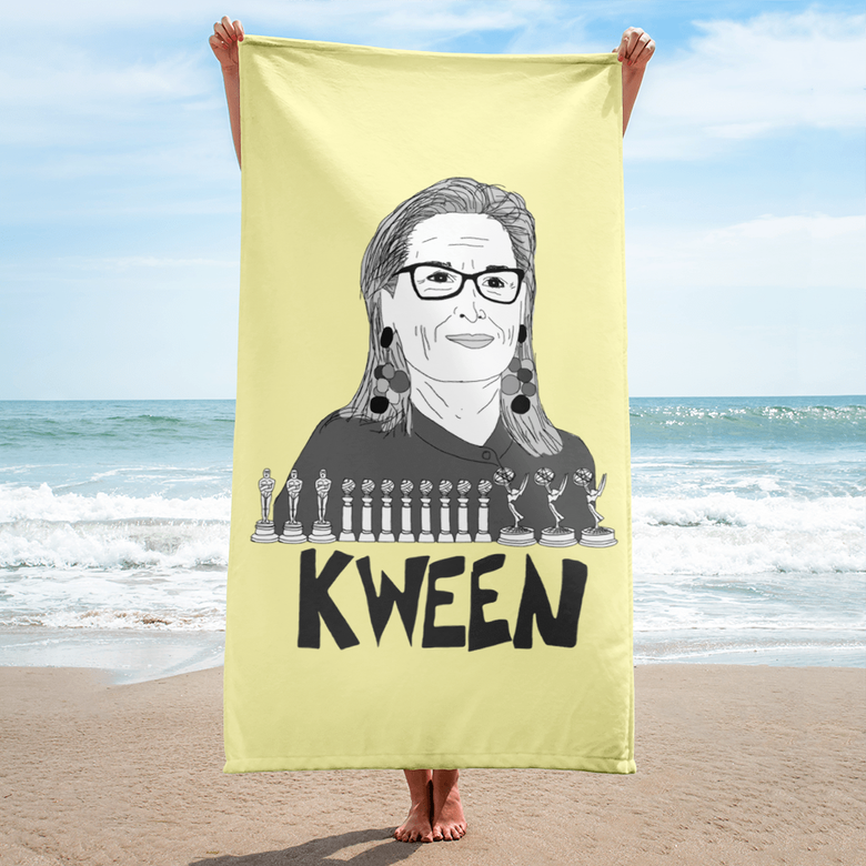 "Image of ""Kween"" Beach Towel"