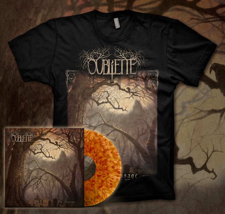 Image of [PRE-ORDER] OUBLIETTE - The Passage - Tan w/Red Splatter LP Bundle
