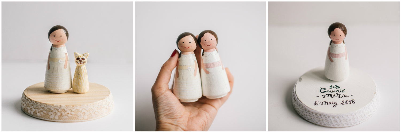 Image of Figura de madera personalizada individual: Minitú | Figura Personalizada Comunión
