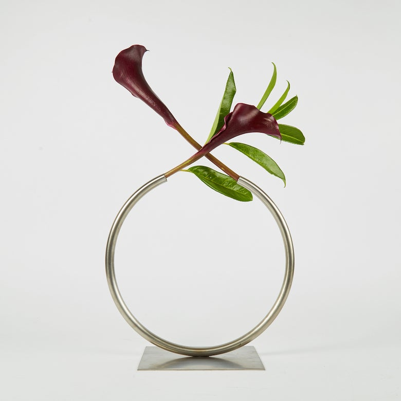Image of Almost a Circle Vase - Stainless Steel, Large