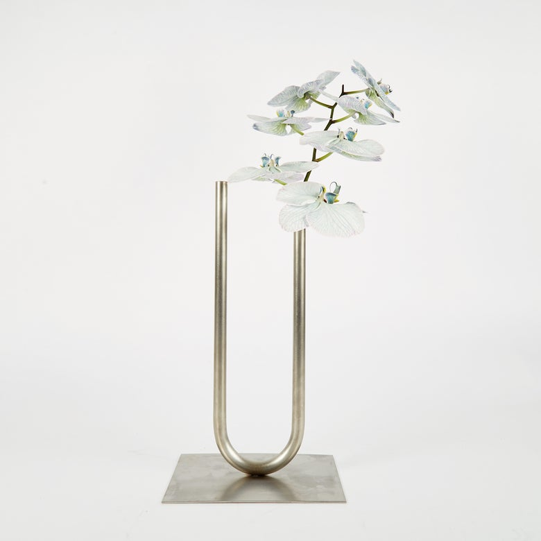 Image of Uneven U Vase - Stainless Steel, Large