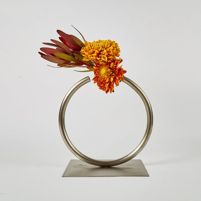 Image of Almost a Circle Vase - Stainless Steel, Medium