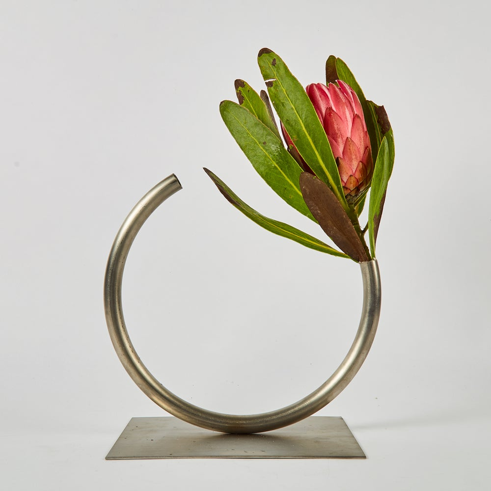 Image of Edging Over Vase - Stainless Steel, Medium