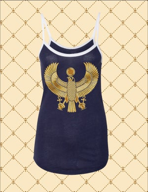 Image of Women's Gold HRU Ringer Tank Top