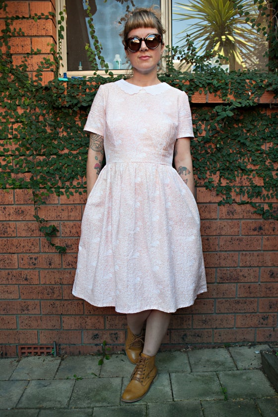 Image of Swan dress - peach
