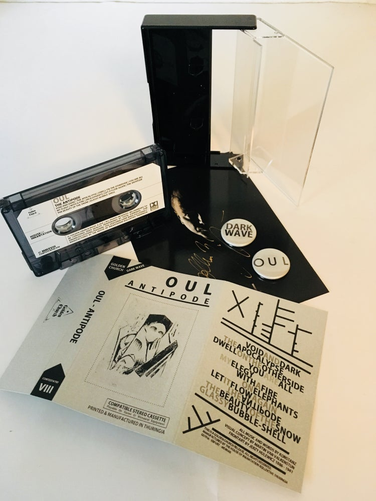 "Image of OUL ""antipode"" Cassette bundle: signed by Konstanz + Sticker + too Buttons"