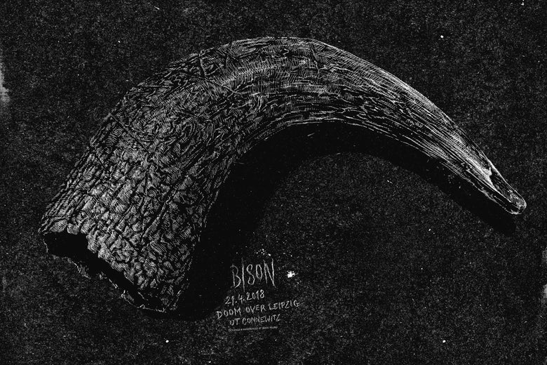 Image of »BISON« Gig Poster