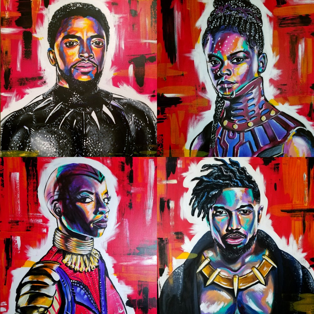 Image of BLACK PANTHER - 4 print package deal