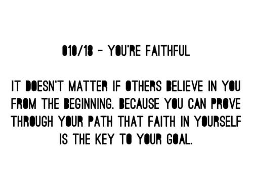 Image of 010/18 - YOU´RE FAITHFUL SHIRT
