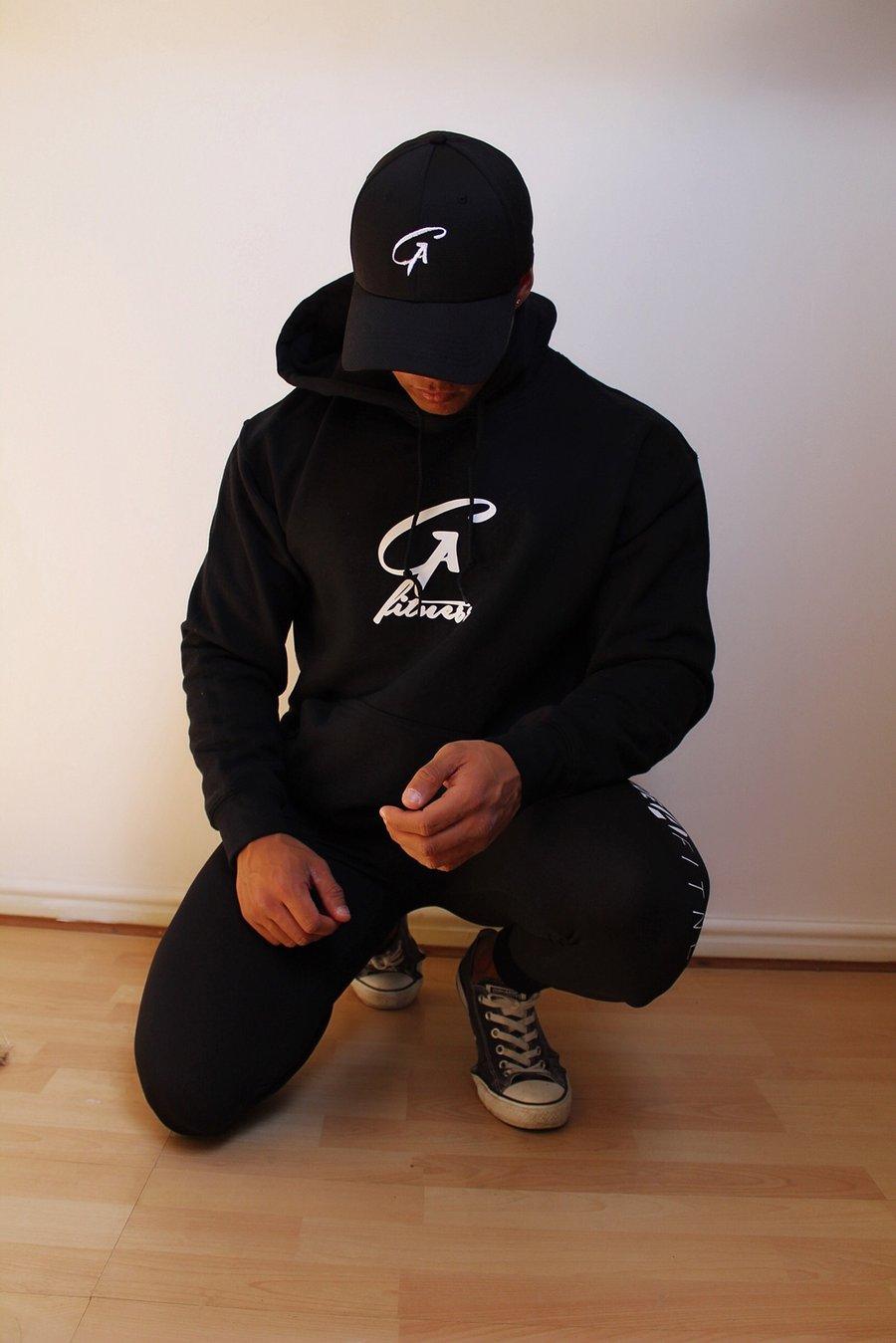 Image of G A - Black hoodie - Unisex