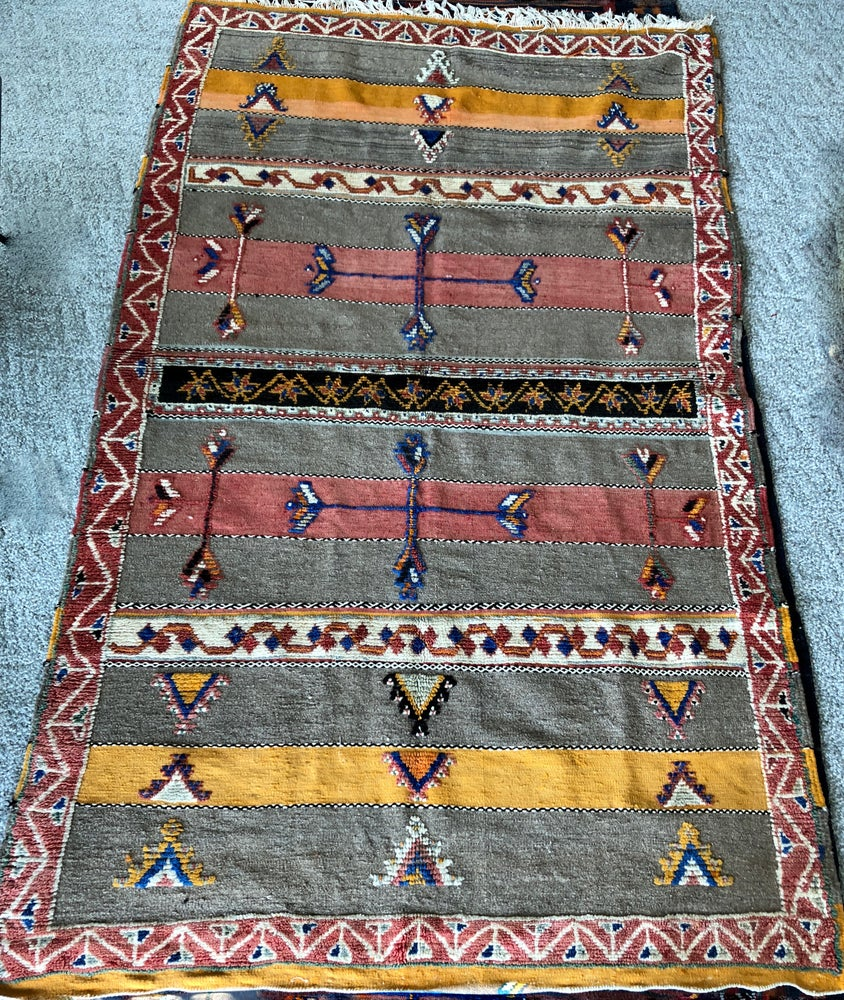 Image of Vintage Glaoua High Atlas Berber Carpet