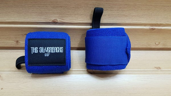 Image of Blue Silverback Wrist Wraps