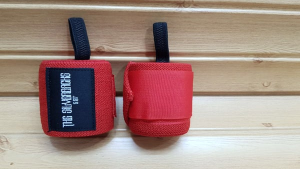 Image of Red Silverback Wrist Wraps