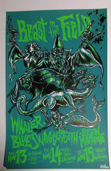 Image of Beast in the Field silkscreen poster
