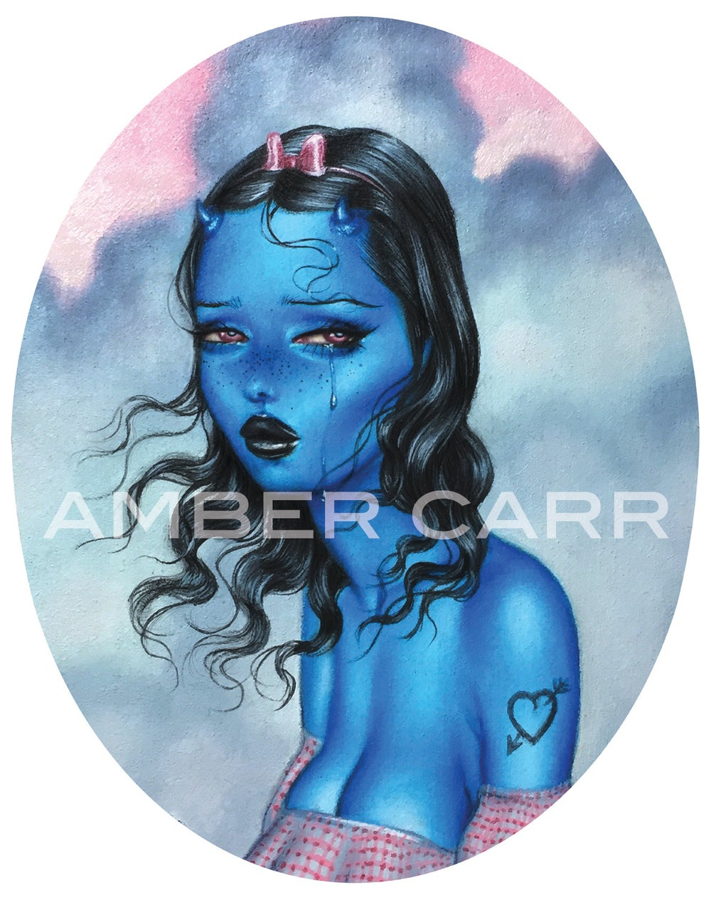 """Image of """"Baby Blue"""" 11"""" x 14"""" Poster Print"""