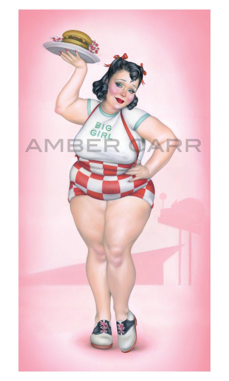 "Image of ""BIG GIRL"" 12"" x 20"" Poster print"