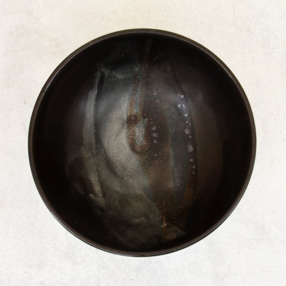 Image of Dark stoneware bowl