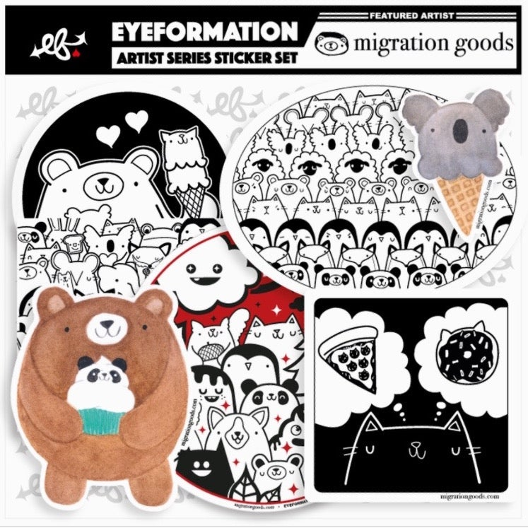 Image of migration goods x eyeformation sticker pack