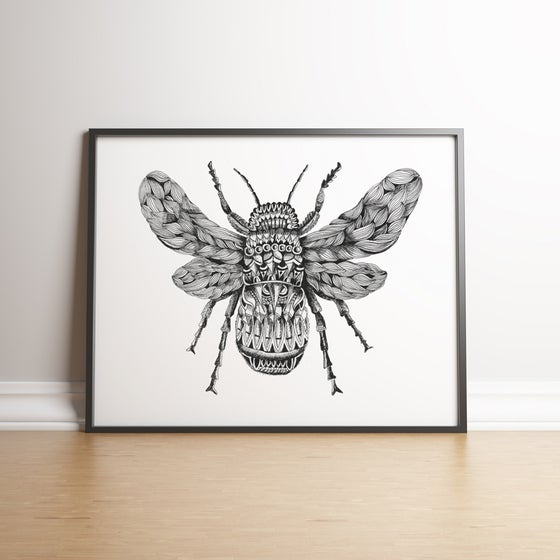 Image of Ornate Bee limited edition handsigned print