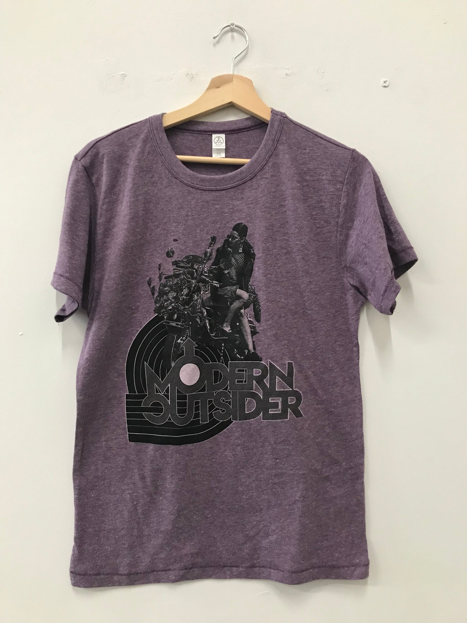 Image of Modern Outsider Scooter T-Shirt Purple