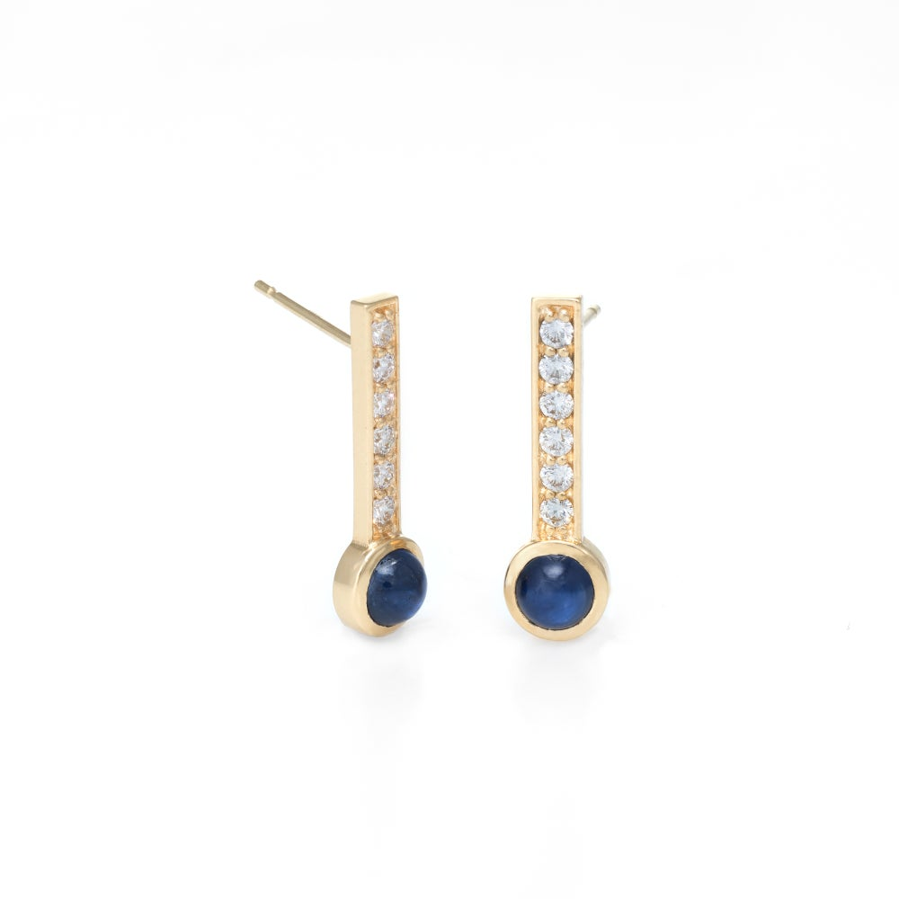 Image of Sapphire Hayworth Earrings