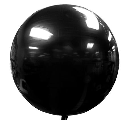 Image of Mylar Orb Black Balloon