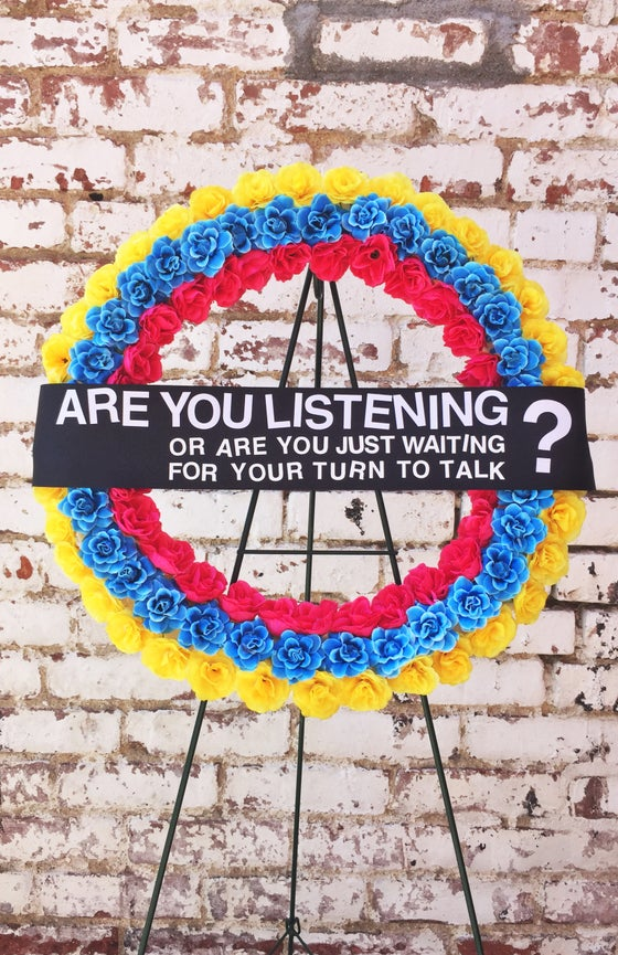 Image of Are you just waiting for your turn to talk? Poster