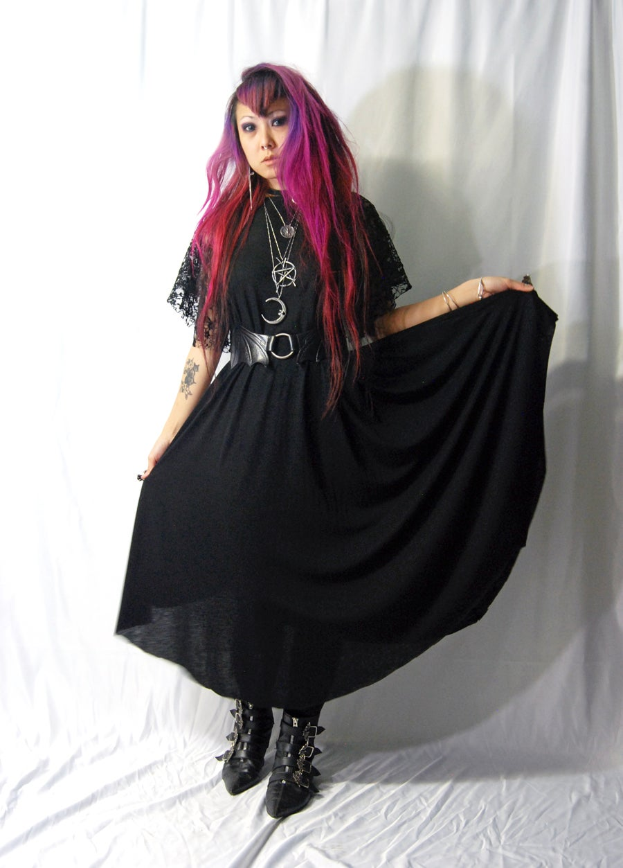Image of Summer Goth Maxi Dress