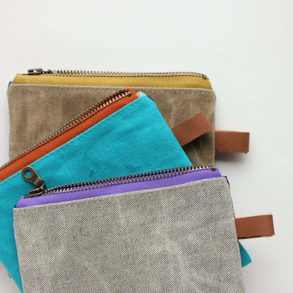 Image of A Straight Up - x - BOB JONES POUCH // in bahumbug buster blue