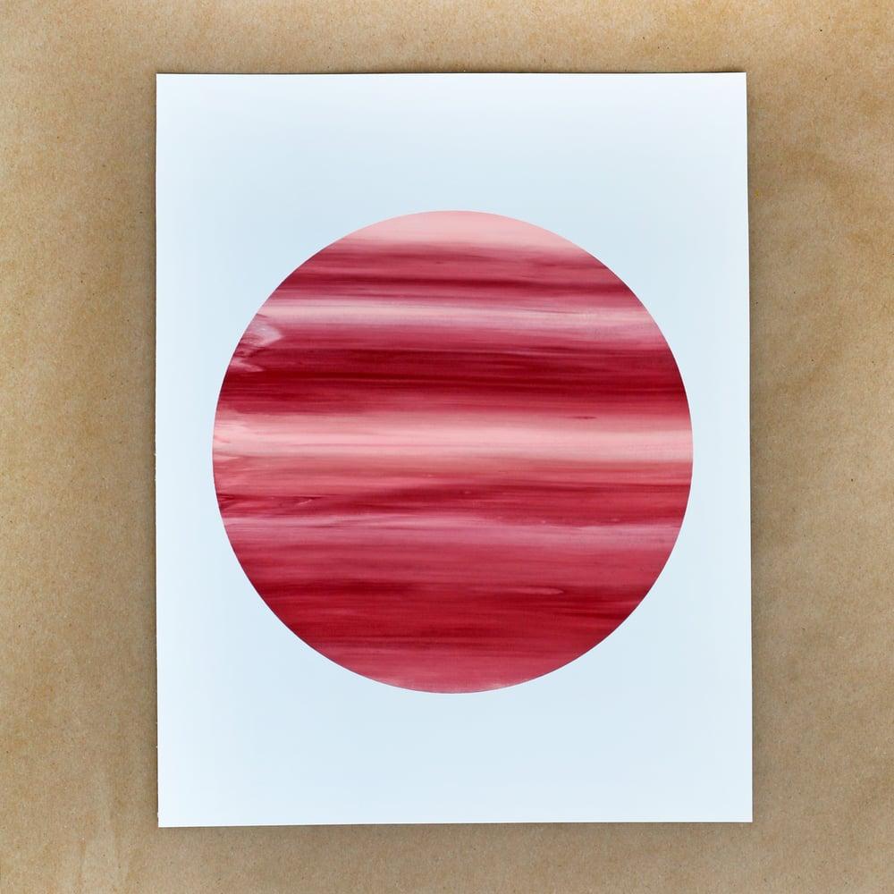 Red Monoprint